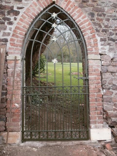 Gothic single wrought iron gate, Bristol
