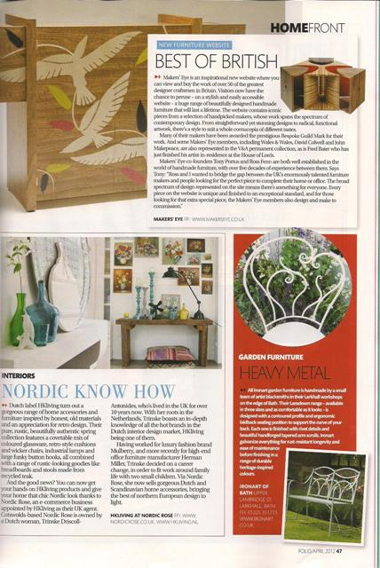 Ironart in Folio Magazine - April 2012