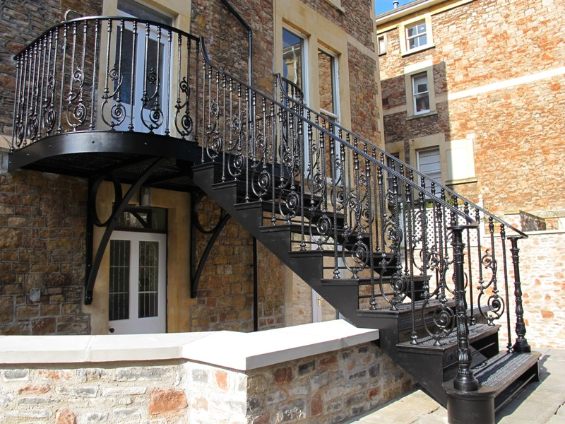 Cast Iron Staircase In Clifton, Bristol