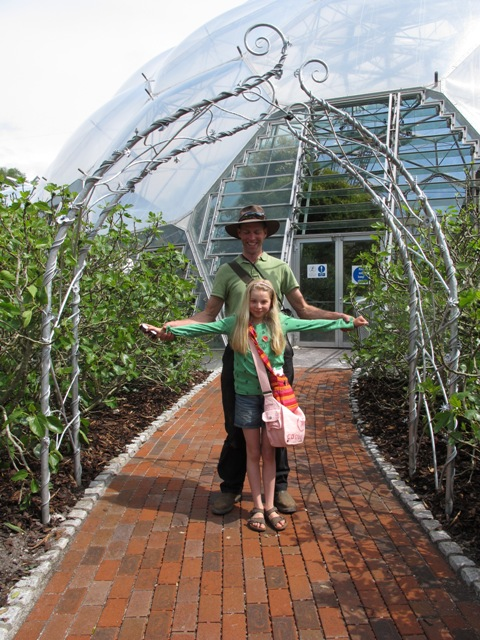 Andy and Emily Thearle at the Eden Project
