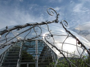 The Asymmetric Flower arch at the Eden Project