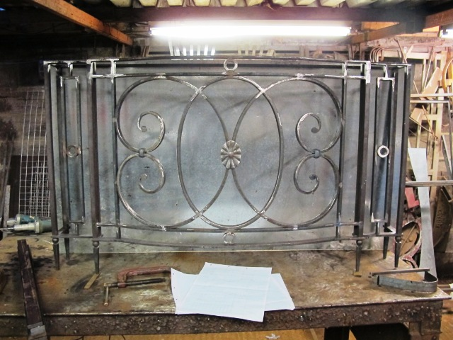 Radiator console in the Ironart workshops, Bath