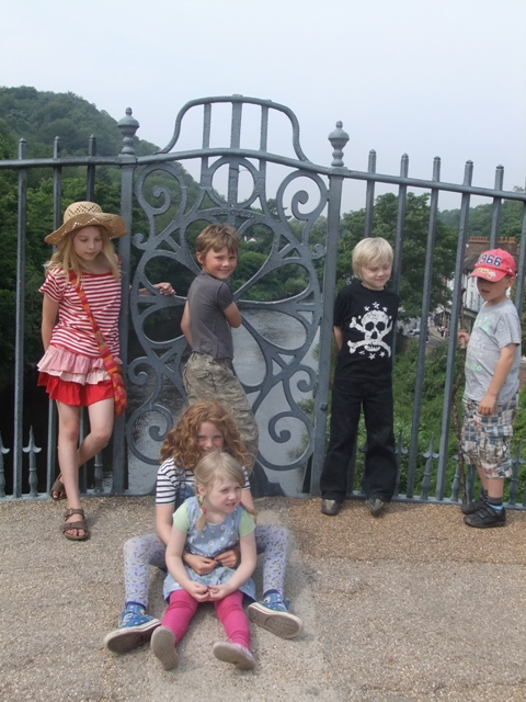 Ironart kids on the Ironbridge