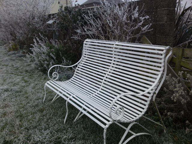 Ironart's Lansdown bench in winter