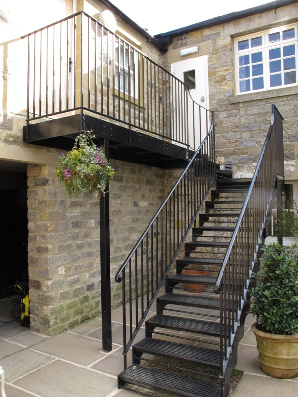 The external staircase at the Yorke Arms, Harrogate